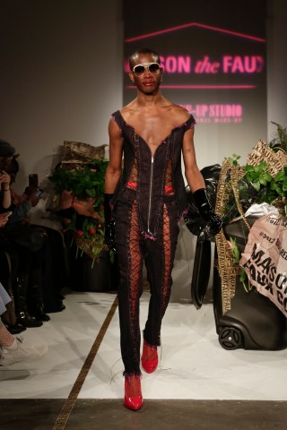 Maison The Faux\'s \'Faux Cosmetics\' fall 2017 at New York Fashion ...