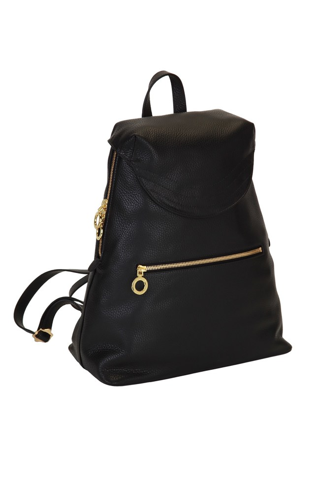 Black Bella Backpack - gold hardware 2