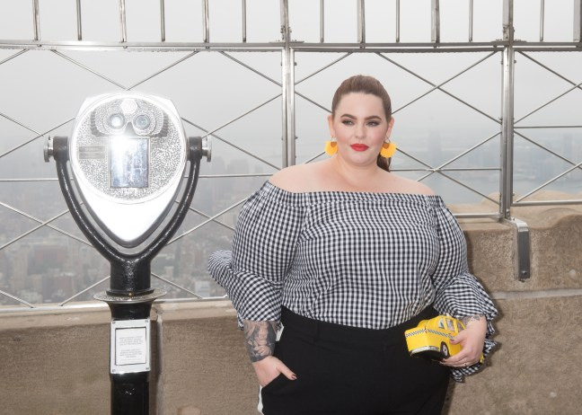 Plus-size model Tess Holliday visits the Empire State Building