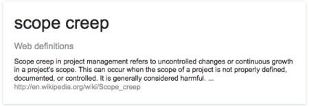 definition of scope creep