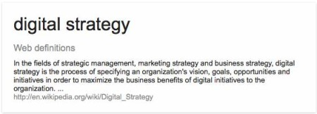 digital strategy web definition