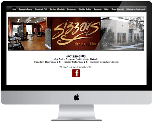 SizzorS Salon Website