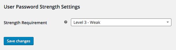 WooCommerce Password Strength Settings Field