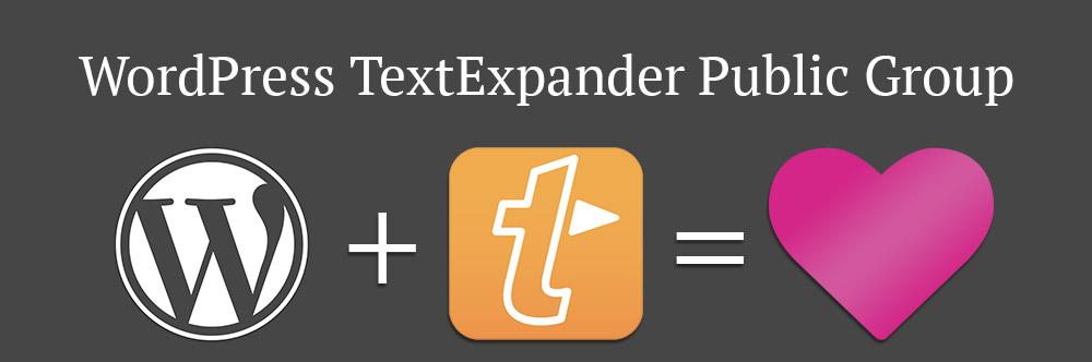 WordPress TextExpander Public Group