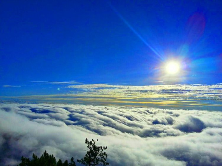 Sea of clouds as seen from Mt. Amuyao, Barlig, Mountain Province.