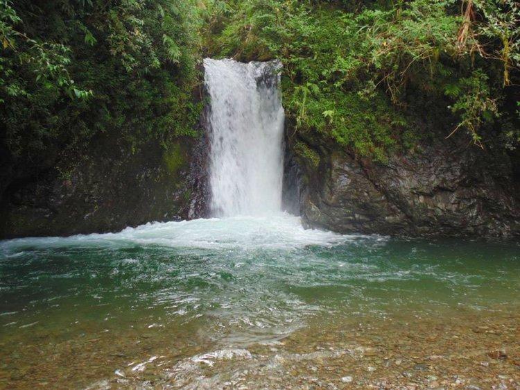 Amfitayok falls of Kadaclan. One of the tourist spots of Barlig, Mountain Province.
