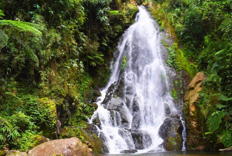 Shamsham falls in Baayan, Tublay. One of the tourist spots of Benguet.