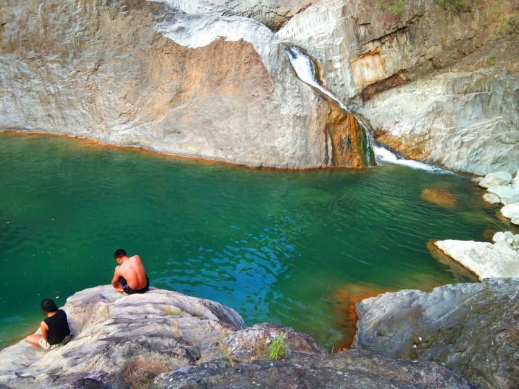 Bayokbok Falls in Tuel, Tublay, Benguet.