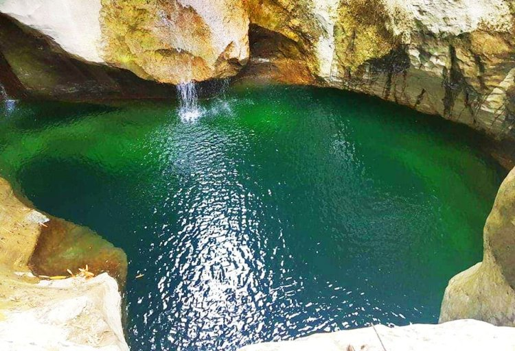 Stunning pool of pristine waters near Bulalakao Cave. One of the tourist spots in Kapangan.