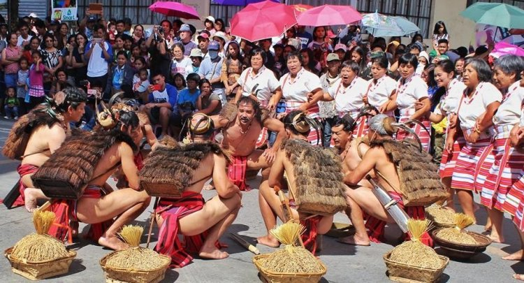 A street dancing competition during the Lang-ay Festival.