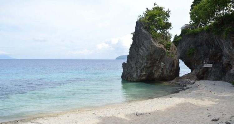 Tagkaan Beach is one of the tourist spots in Southern Leyte.