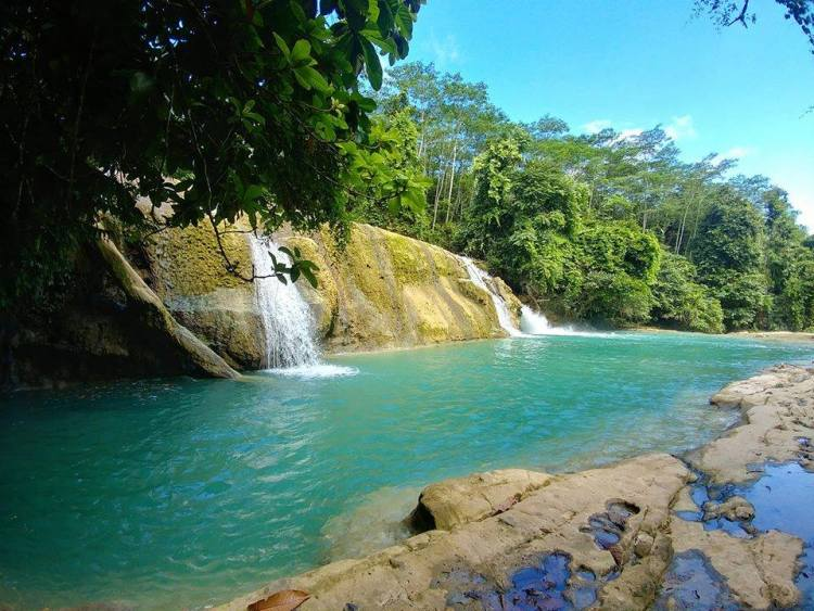 Tugonan Falls is one of the tourist spots in Agusan del Sur