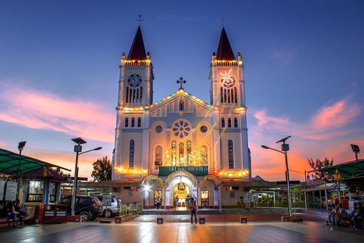 Evening View of Baguio Cathedral. Check out the Baguio Cathedral Mass Schedule.