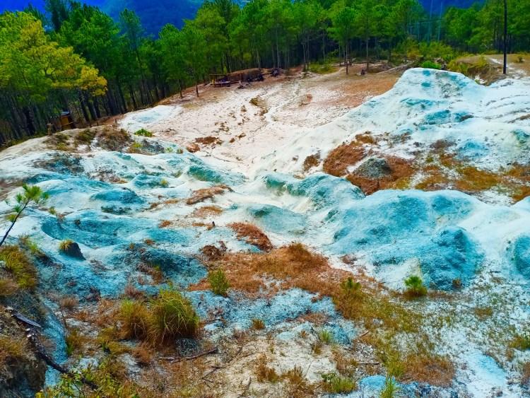 Blue mounds at Blue Soil Sagada