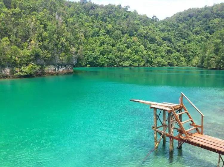 Sugba Blue Lagoon is one the tourist spots in Surigao Del Norte