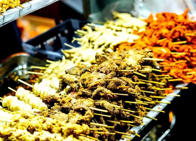 Filipino streetfood served at Baguio Night Market