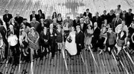 Wedding Panorama  at the Lake Union Crew Boathouse