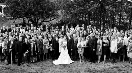 Panoramic Portrait of a Wedding at the Sanders Estate