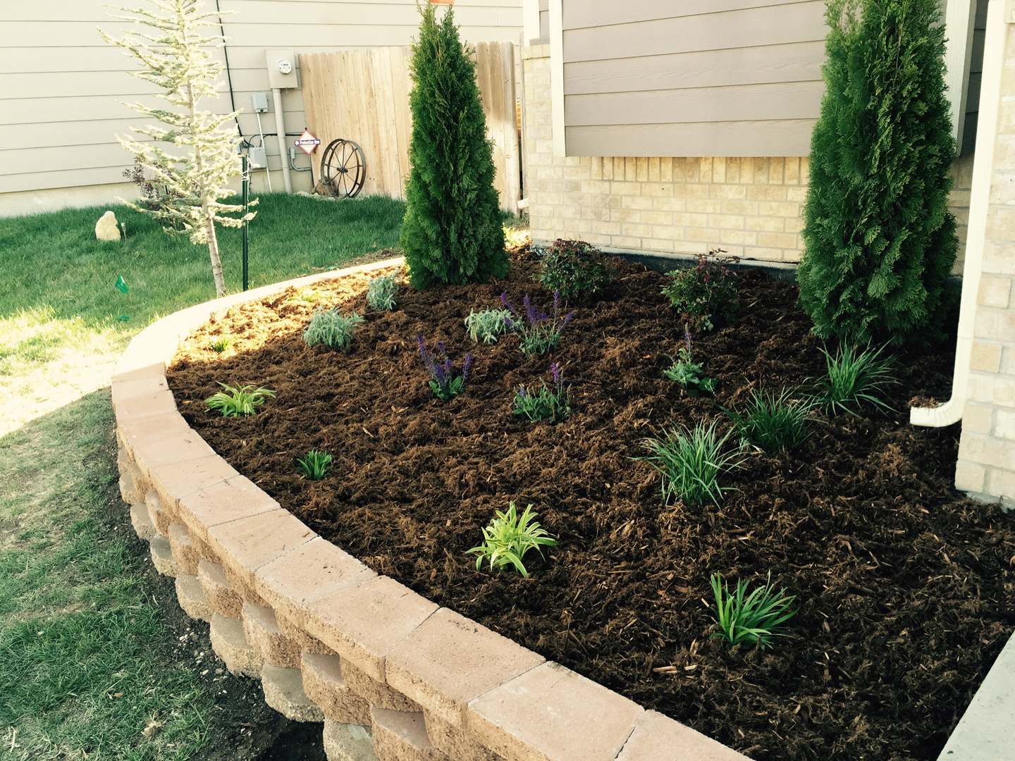 Landscape Construction | Daniels Lawn and Landscaping Services on Concrete Front Yard Ideas id=90932