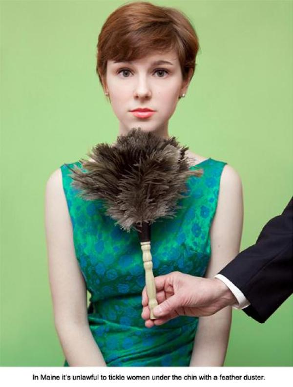 Silly United States laws: No tickling of women under the chin with a feather duster