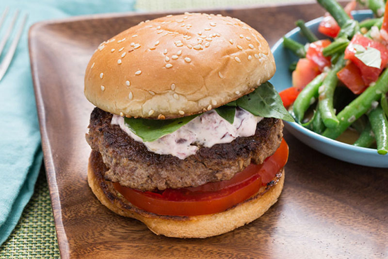 Italian hamburger topping combinations