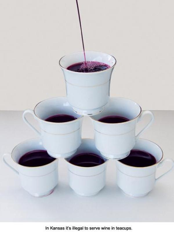 Silly United States laws: You cannot serve wine in teacups
