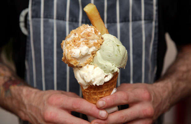 Would you try fish and chips flavoured ice cream?