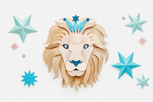 Creative and beautiful Leo star signs made out of paper