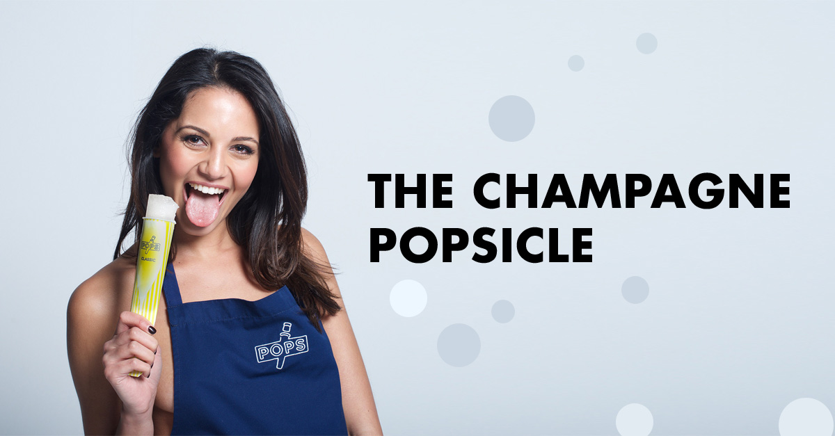 The Champagne popsicle: A fizzy frozen luxury treat