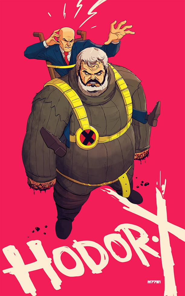 Superhero mashup: Professor X and Game of Thrones
