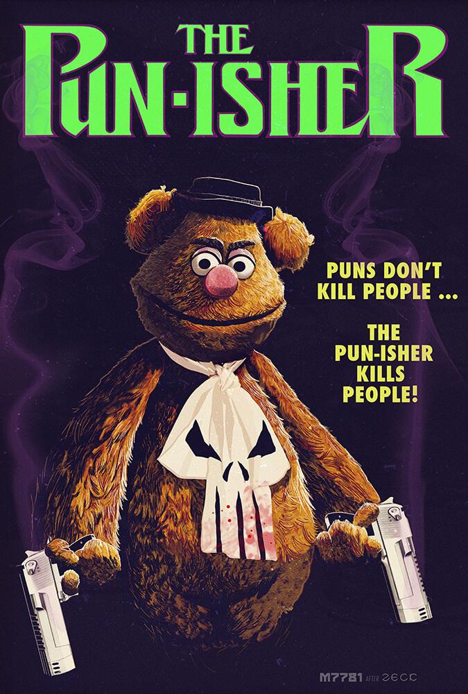 Superhero mashup: The Muppets & The Punisher