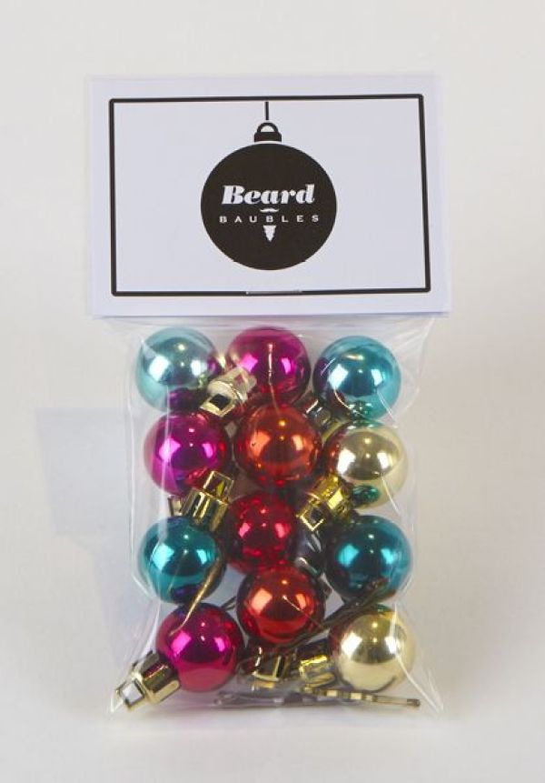 Decorate your beard with mini baubles