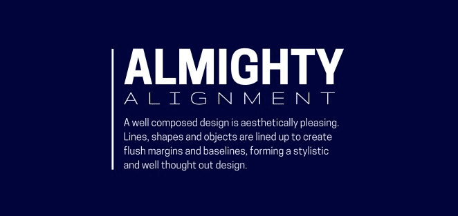 Useful graphic design tips for non-designers: Alignment