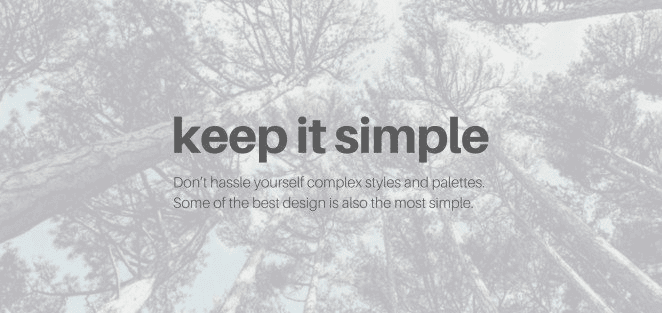 Useful graphic design tips for non-designers: Simplicity