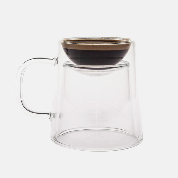 Enjoy an espresso or a coffee with the flip of a cup