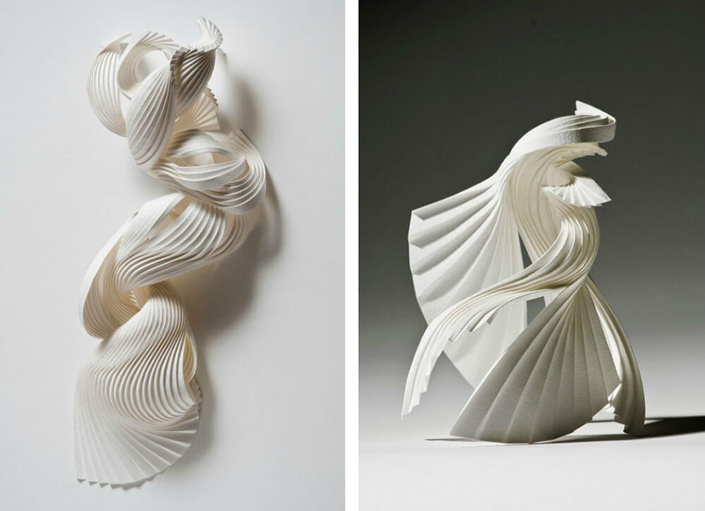 Beautifully crafted 3D paper sculptures by Richard Sweeney