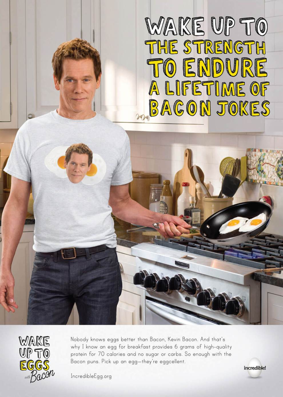 American Egg Board wants you to take up to eggs and... Kevin Bacon