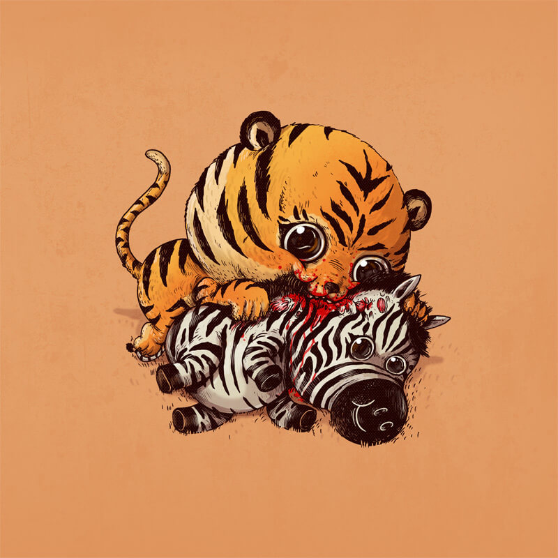 Adorable, brutally honest circle of life illustrations