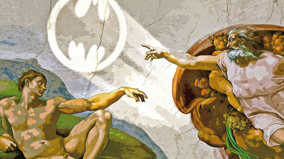 Artist transform famous paintings into Batman-themed pop art