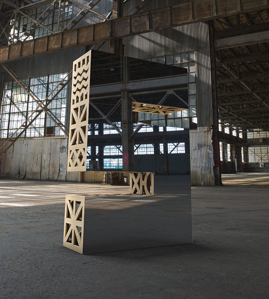 SFDW's gigantic mirrored letters that reflect their surroundings