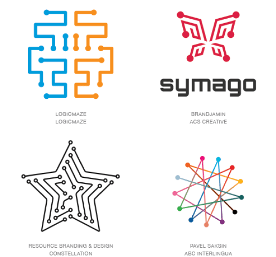Emerging logo design trends: Dot tip