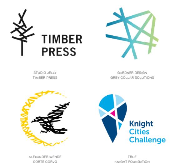 Emerging logo design trends: Pick-up sticks