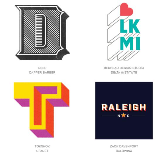 Emerging logo design trends: Shaded logos