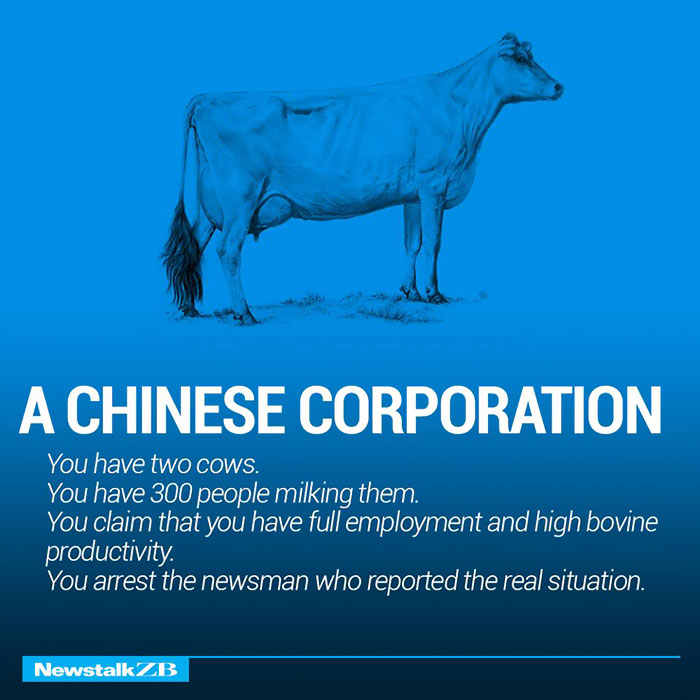 A Chinese Corporation: You have 2 cows