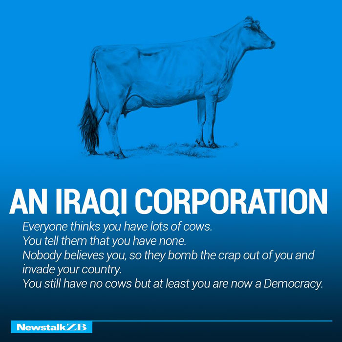 An Iraqi Corporation: You have 2 cows