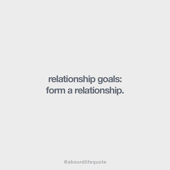 """Relationship goals: Form a relationship"""