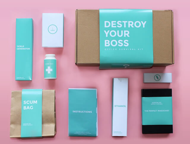 Office survival kit helps you destroy your bullying boss
