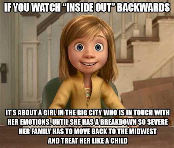 What if movies like Inside Out were watched in reverse?