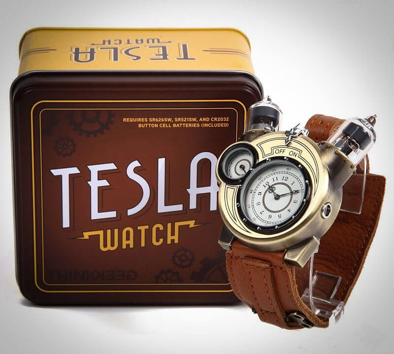 This steampunk Tesla Watch is the coolest way to tell time