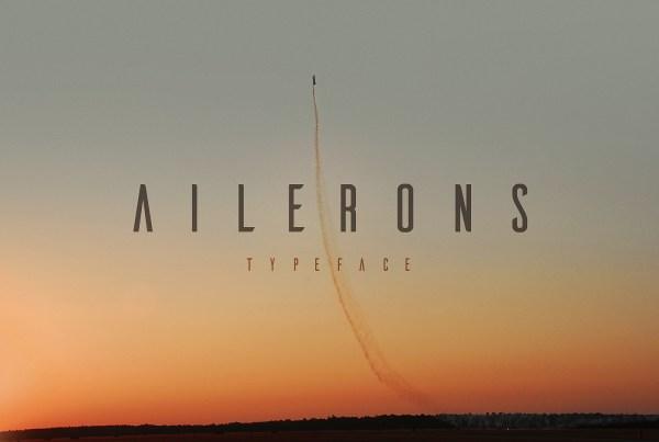 Free font: Ailerons